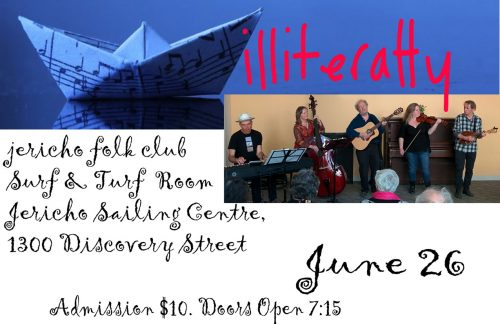 Illiteratty feature at Jericho Folk @ Jericho sailing club | Vancouver | British Columbia | Canada